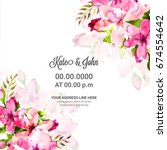 save the date  wedding... | Shutterstock .eps vector #674554642