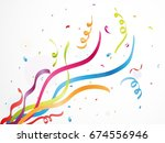 colorful party confetti on... | Shutterstock . vector #674556946