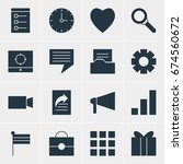 vector illustration of 16 web...