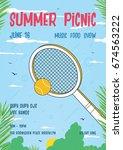 summer picnic vertical poster....   Shutterstock .eps vector #674563222