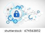 secure digital space. virtual... | Shutterstock .eps vector #674563852