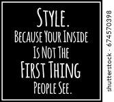 funny  inspirational quotation... | Shutterstock . vector #674570398