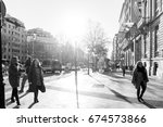 barcelona spain   february 9 ... | Shutterstock . vector #674573866