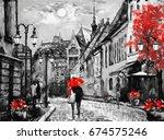 oil painting on canvas european ... | Shutterstock . vector #674575246