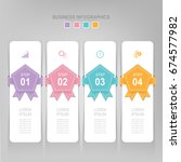 infographic template of four... | Shutterstock .eps vector #674577982