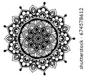 mandalas for coloring book.... | Shutterstock .eps vector #674578612