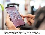 chiang mai  thailand   july 4 ... | Shutterstock . vector #674579662