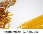 Small photo of macaroni pasta, background macaroni pasta, free space macaroni pasta, white background and macaroni pasta