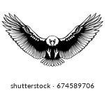Eagle Emblem Isolated On White...