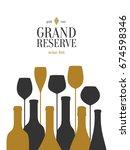 wine list design. vector...   Shutterstock .eps vector #674598346