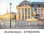 view on the famous la bourse...   Shutterstock . vector #674603446