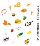 kitchen pattern | Shutterstock .eps vector #67461211