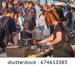 tokyo  japan   july 9th  2017.... | Shutterstock . vector #674613385