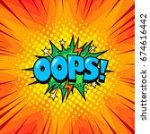superhero comic book speech... | Shutterstock .eps vector #674616442