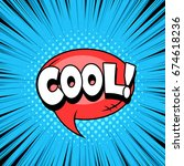 comic style speech bubble ... | Shutterstock .eps vector #674618236