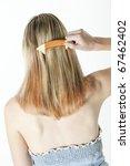 detail of woman combing long... | Shutterstock . vector #67462402