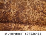 metal texture with scratches... | Shutterstock . vector #674626486