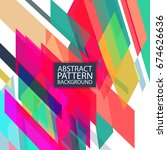 vector abstract stripes pattern....   Shutterstock .eps vector #674626636