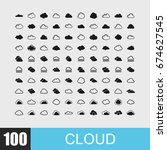 simple set of cloud related... | Shutterstock .eps vector #674627545