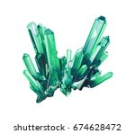 3d render  emerald green... | Shutterstock . vector #674628472