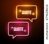 neon sign speech bubble. vector ... | Shutterstock .eps vector #674628616