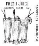 vector image of summer cocktail ... | Shutterstock .eps vector #674630092