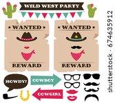 wild west party vector photo... | Shutterstock .eps vector #674635912