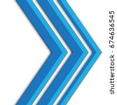 abstract blue arrow on white... | Shutterstock .eps vector #674636545
