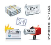 newspaper icon set | Shutterstock .eps vector #67464238