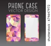 case for mobile phone with... | Shutterstock .eps vector #674647972