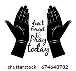 Jesus Praying Hands Silhouette...