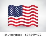 Wavy American Flag.flag Of Usa.
