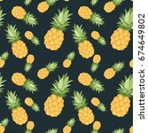 seamless pattern with... | Shutterstock .eps vector #674649802