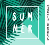 retro typographic summer design ... | Shutterstock .eps vector #674650636