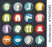 body parts vector icon set | Shutterstock .eps vector #674652682