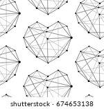 heart pattern | Shutterstock .eps vector #674653138