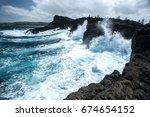 High Sea Wave To Sea Shore...