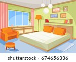 vector cartoon illustration... | Shutterstock .eps vector #674656336