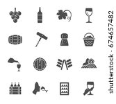 wine production icons | Shutterstock .eps vector #674657482