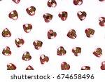 rhinestone background. heart... | Shutterstock . vector #674658496