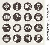 wine icon set | Shutterstock .eps vector #674658976