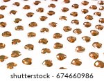 rhinestone background. heart... | Shutterstock . vector #674660986