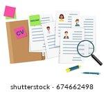 human resources management...   Shutterstock .eps vector #674662498