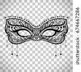 elegant carnival mask  black... | Shutterstock .eps vector #674667286
