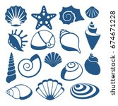 Sea Shell Vector Silhouette...
