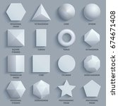 top view realistic white math... | Shutterstock .eps vector #674671408