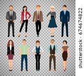 casual office people vector... | Shutterstock .eps vector #674674822