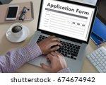 business man working on laptop... | Shutterstock . vector #674674942