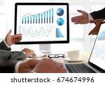 statistics analysis business...   Shutterstock . vector #674674996