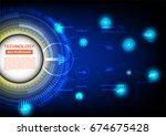 vector technology template...   Shutterstock .eps vector #674675428